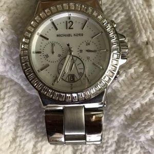 MICHEAL KORS Silver watch.